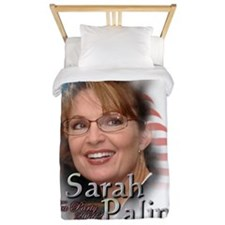 3-Sarah Palin Tea Party 2012 Twin Duvet