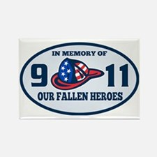 9-11 fireman firefighter hat amer Rectangle Magnet