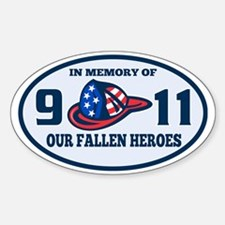 9-11 fireman firefighter hat americ Decal