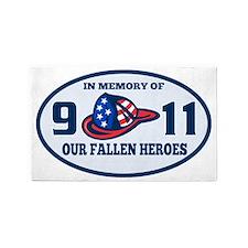 9-11 fireman firefighter hat americ 3'x5' Area Rug