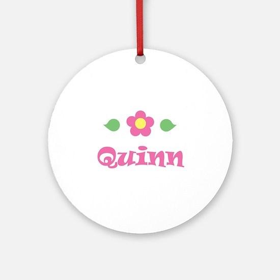 "Pink Daisy - ""Quinn"" Ornament (Round)"