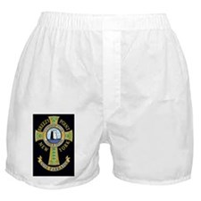 3-Black Rectangle Breezy Logo Boxer Shorts