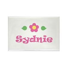 """Pink Daisy - """"Sydnie"""" Rectangle Magnet"""
