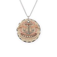 SailorBUCLogo Necklace Circle Charm