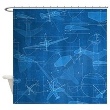 Aerodynamics Shower Curtain