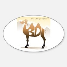 Abdi camel 1 Oval Decal