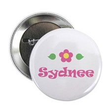 "Pink Daisy - ""Sydnee"" Button"