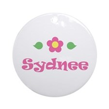 "Pink Daisy - ""Sydnee"" Ornament (Round)"