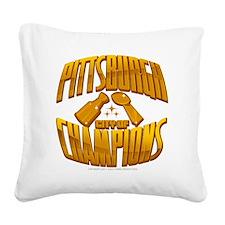 cityofchampions Square Canvas Pillow