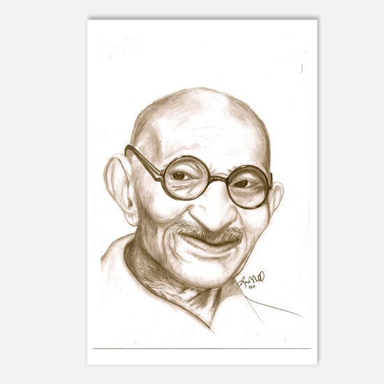 ghandi Postcards (Package of 8)