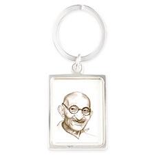 ghandi Portrait Keychain