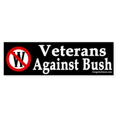Veterans Against Bush (Bumper Sticker)