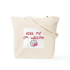 Kiss me i'm Wiccan Tote Bag