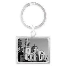 heraklion_church_framed_print_B Landscape Keychain
