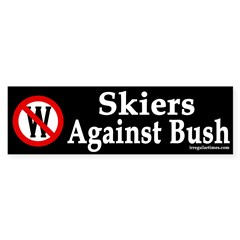 Skiers Against Bush (bumper sticker)