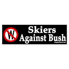Skiers Against Bush (bumper sticker)