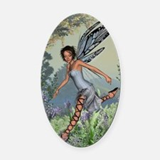 Bluebell Fairy Oval Car Magnet