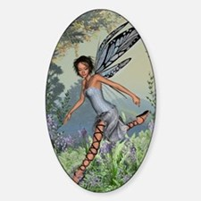 Bluebell Fairy Sticker (Oval)