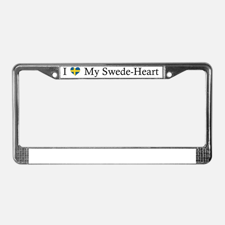Heart-SwedeHeart License Plate Frame