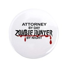 "Zombie Hunter - Attorney 3.5"" Button (100 pack)"