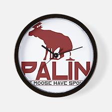 Palin Moose Dropped-RB Wall Clock