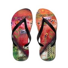 Stop and Smell the Flowers I-png-300dpi Flip Flops