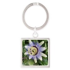 PassionFlower Gym Bag Square Keychain