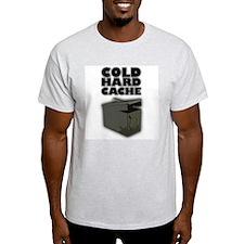Cold Hard Cache Ash Grey T-Shirt