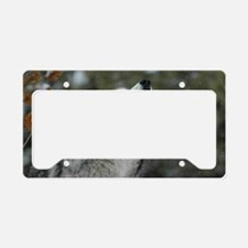 x14 Christmas Wolf License Plate Holder