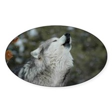 x14 Christmas Wolf Decal