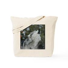 x10 Christmas Wolf Tote Bag
