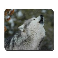 x10 Christmas Wolf Mousepad