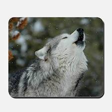 x10 Christmas Wolf Mousepad