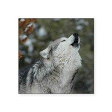 "x10 Christmas Wolf Square Sticker 3"" x 3"""