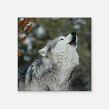 "x10 Christmas Wolf Square Sticker 3"" x 3"""