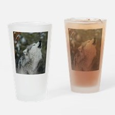 x10 Christmas Wolf Drinking Glass