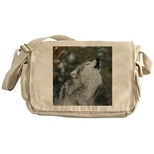 x10 Christmas Wolf Messenger Bag
