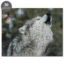 x10 Christmas Wolf Puzzle