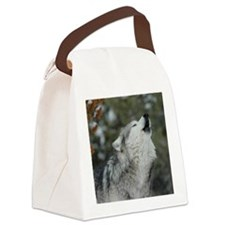 x10 Christmas Wolf Canvas Lunch Bag