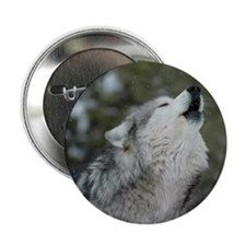 "x10 Christmas Wolf 2.25"" Button"
