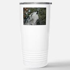 x14blk Christmas Wolf Travel Mug