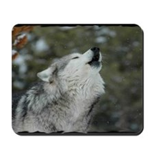 x14blk Christmas Wolf Mousepad