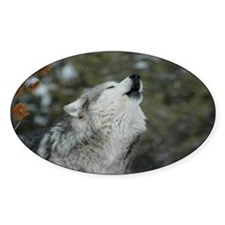 x14blk Christmas Wolf Decal
