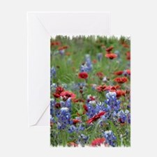 BLUEBONNETS AND FIREWHEELS 2 Greeting Card