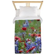 BLUEBONNETS AND FIREWHEELS 2 Twin Duvet