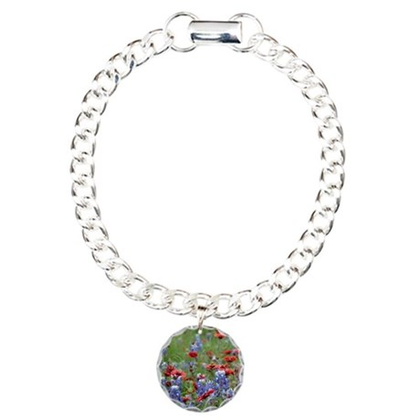 BLUEBONNETS AND FIREWHEE Charm Bracelet, One Charm