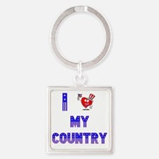 MY COUNTRY copy Square Keychain