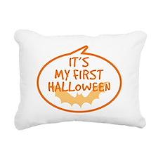 Babys First Halloween Rectangular Canvas Pillow