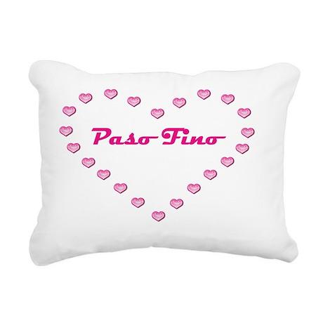 Valentine_Paso Fino Rectangular Canvas Pillow