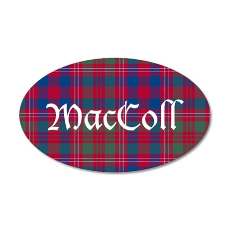 Tartan-MacColl hunting 35x21 Oval Wall Decal